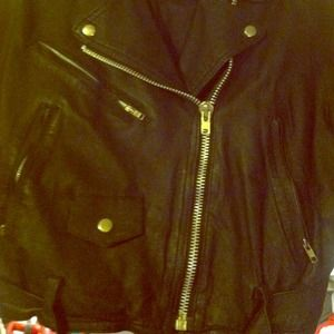 Jackets & Blazers - Another picture of the leather biker jacket.