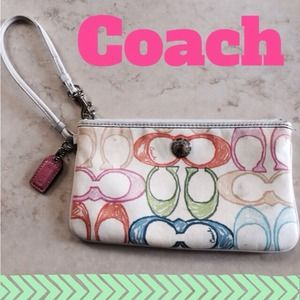 Coach Clutches & Wallets - Coach Multi-colored Wrislet