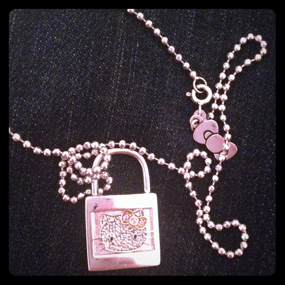 5836b55c1 .925 Sterling silver Hello Kitty lock necklace. M_529e0f199777a0735211de1f