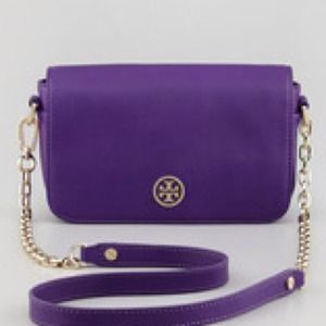 Tory Burch Robinson Crossbody Bag in Purple