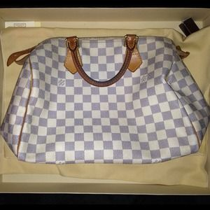 💙✨Authentic Louis Vuitton damier azur speedy 30