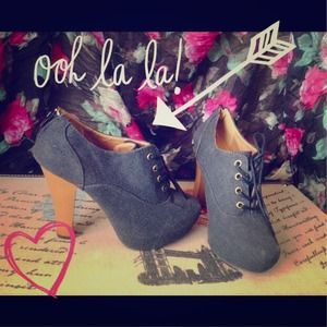 Super Cute Denim Booties