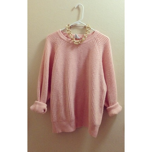 30% off Sweaters - Light Pink Over-sized Knit Sweater from Rubi's ...