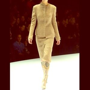 Alexander McQueen Tweed Asymmetrical Suit 40