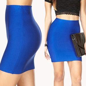 Dresses & Skirts - ❥ Royal Blue Bandage Skirt (S)