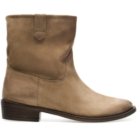 Zara Shoes - Zara Suede Short Boots