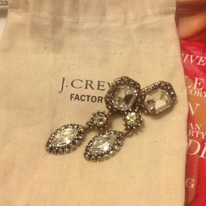 REDUCED. NEW crystal statement earrings, J. crew