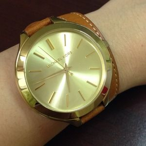 Michael Kors double wrap leather watch