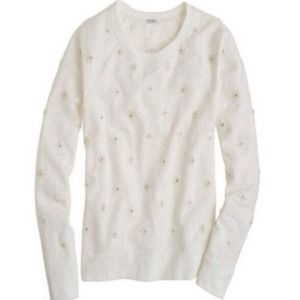 J. Crew Sweaters - J.CREW Ivory Jewel Sweater