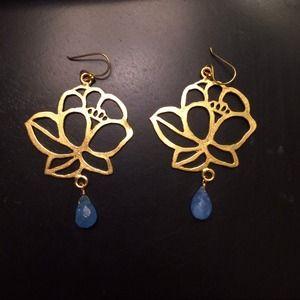 Wendy Mink Flower Drop Earrings