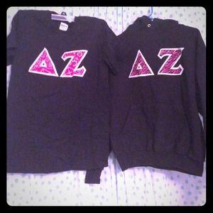 40 Off Tops Delta Zeta Sorority Letter Shirt From