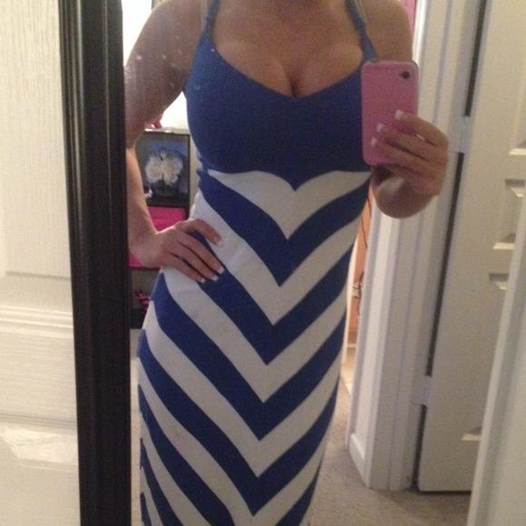 Bebe maxi blue dress