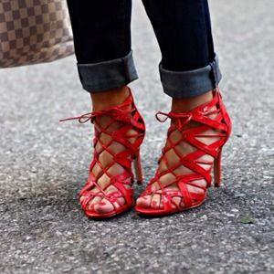 SOLD Prabal Gurung for Target Red Lace-Up Pumps