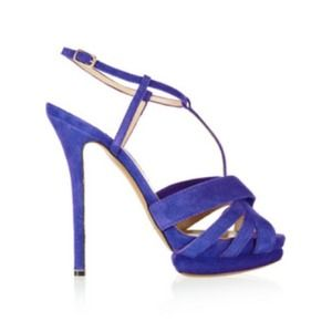 Nicholas Kirkwood Shoes - {Reduced} Nicholas Kirkwood Purple Suede Heels!!