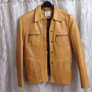 Mango real leather jacket