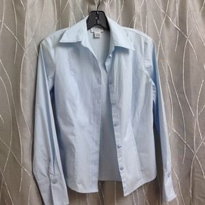 Nice blouse from loft baby blue color!  Size 6