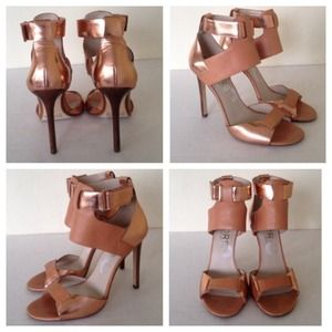KORS BY MICHAEL KORS rose gold Strappy Sandals 8