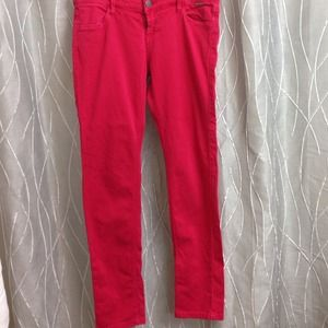 Red pants from boutique in France