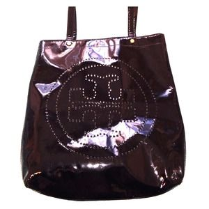 Tory burch tote black Patton leather