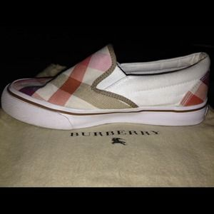 Authentic Burberry slip on shoes.