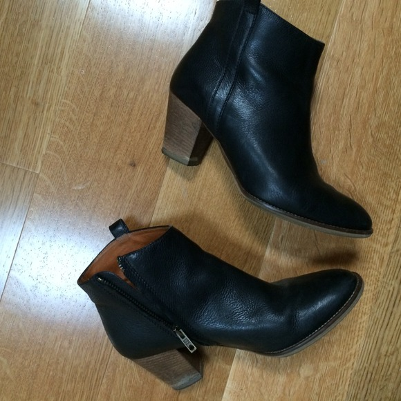 53 madewell boots madewell billie black ankle boots