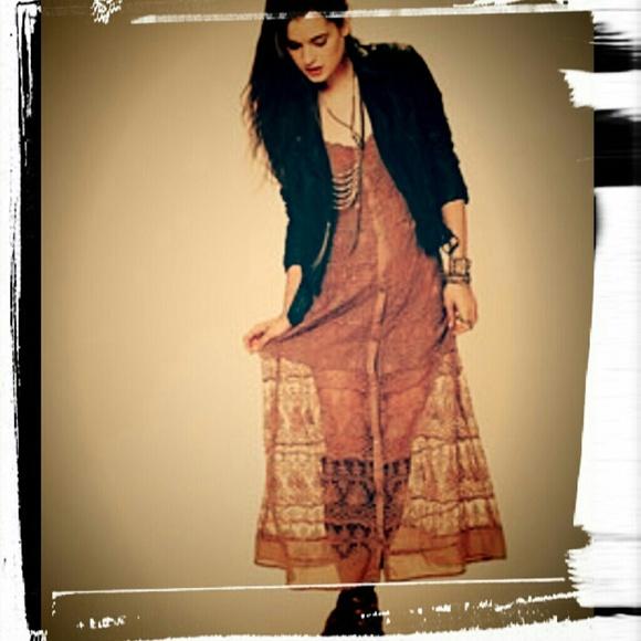 Free People Dresses   Sold On Ebay Prairie Mesh Maxi Dress   Poshmark