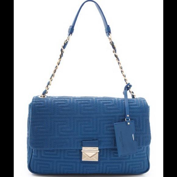 2dacf2e6b64 Versace Bags | Blue Leather Handbag | Poshmark