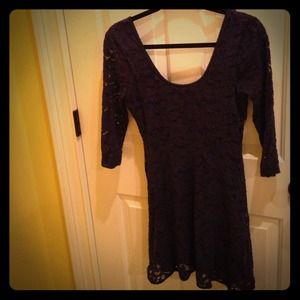 Navy free people dress