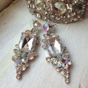 Iridescent dangle earrings