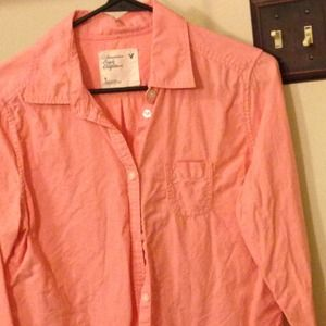 Salmon Button Down Shirt - Greek T Shirts