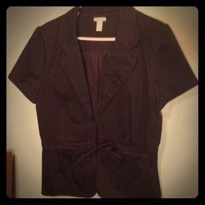 Black short sleeve jacket