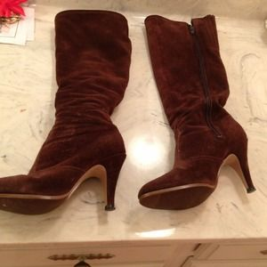 Boots - Suede brown boots size 7