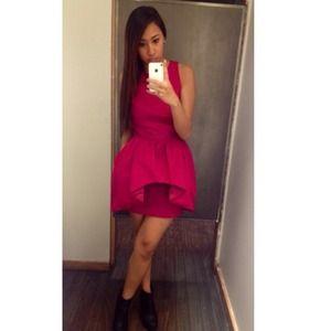 Red maxi dress armani exchange