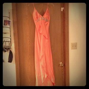 Dresses & Skirts - Spaghetti strap satin formal dress
