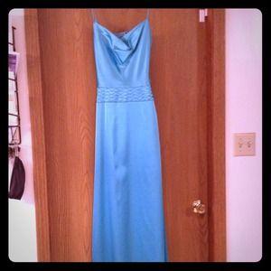 Dresses & Skirts - Aqua satin formal dress