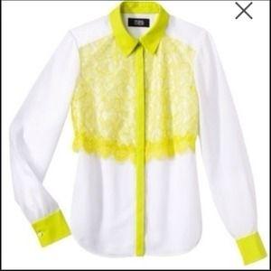 ◻️Prabal Gurung lace blouse