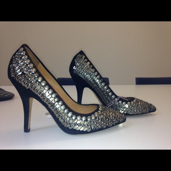 e9dd326207a Isabel Marant Shoes | Pour Hm Black Studded Heels Sz Us 7 | Poshmark