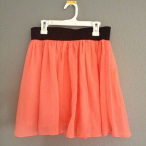 Coral Flowy Skirt