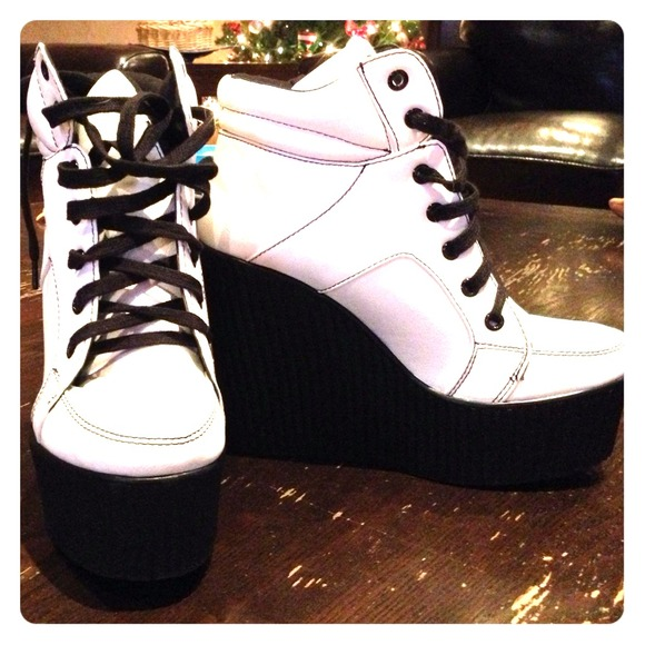 21ea8f4cce8a Forever 21 Shoes - Bold Wedge Sneakers