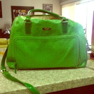 HOST PICK Green ostrich Kate Spade bag