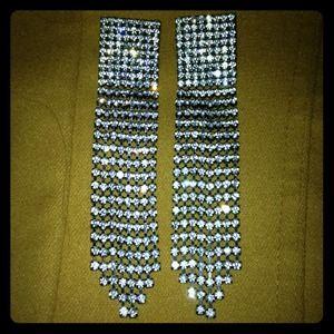 bebe Jewelry - Bebe long diamond earrings