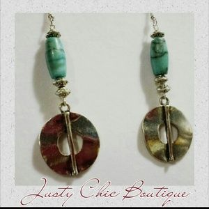 Jewelry - Sold Earrings turquoise with silver