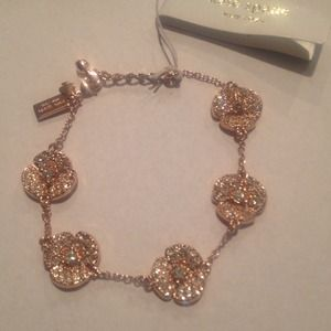 "Kate Spade ""Disco Pansy""Rose Gold Bracelet HP"