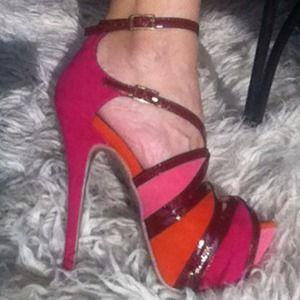 Multi-colored Shoedazzle stilettos