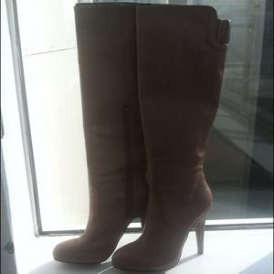 Zara, tan colored boots.