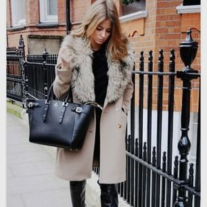 Host pick Vince Camuto lioness wool faux fur coat