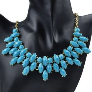 Neon Blue Statement Necklace