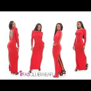 Red Long Elegant Maxi Dress