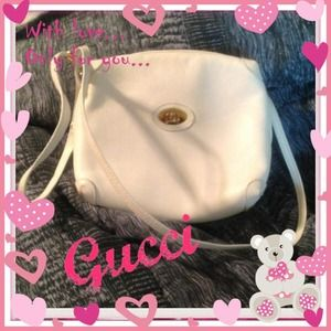 Authentic white Rare Vintage Gucci shoulder bag