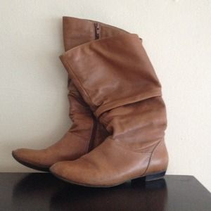 Leather ALDO slouch boot